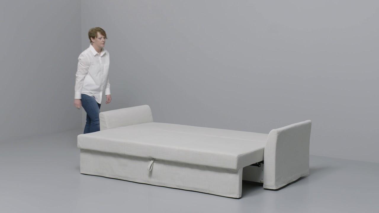 Ikea Holmsund Anleitung Vom 3 Er Sofa Zum Bett Youtube