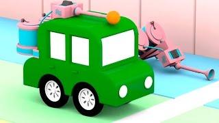 Lehrreicher Zeichentrickfilm - Die 4 kleinen Autos - Wir bauen ein Fischbecken