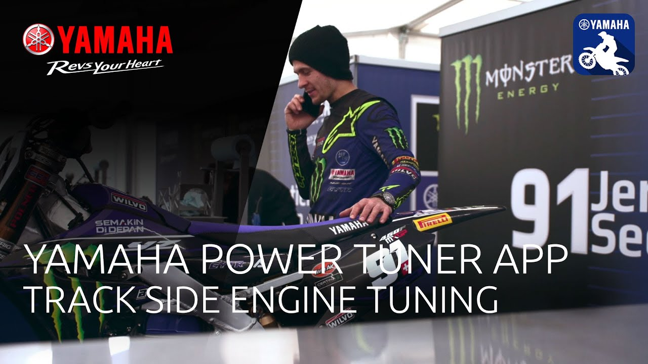 Yamaha Power Tuner app:  Track side engine tuning - with Michael van der Mark and Jeremy Seewer