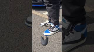 UNRELEASED Travis Scott x Fragment Air Jordan 1's stay Crease FREE with Crep Protect Crease Guards 🌵