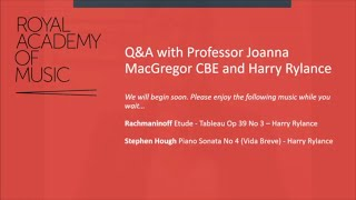 Royal Academy of Music Q&A with Joanna MacGregor CBE and Harry Rylance