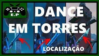 MISSÃO DANCE EM CIMA DE UMA TORRE D'ÁGUA, LOCALIZAÇÃO, TODAS AS TORRES - FORTNITE