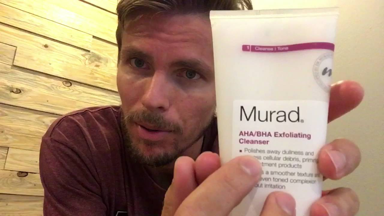 Murad AHA/ BHA Exfolient Cleanser Review - YouTube