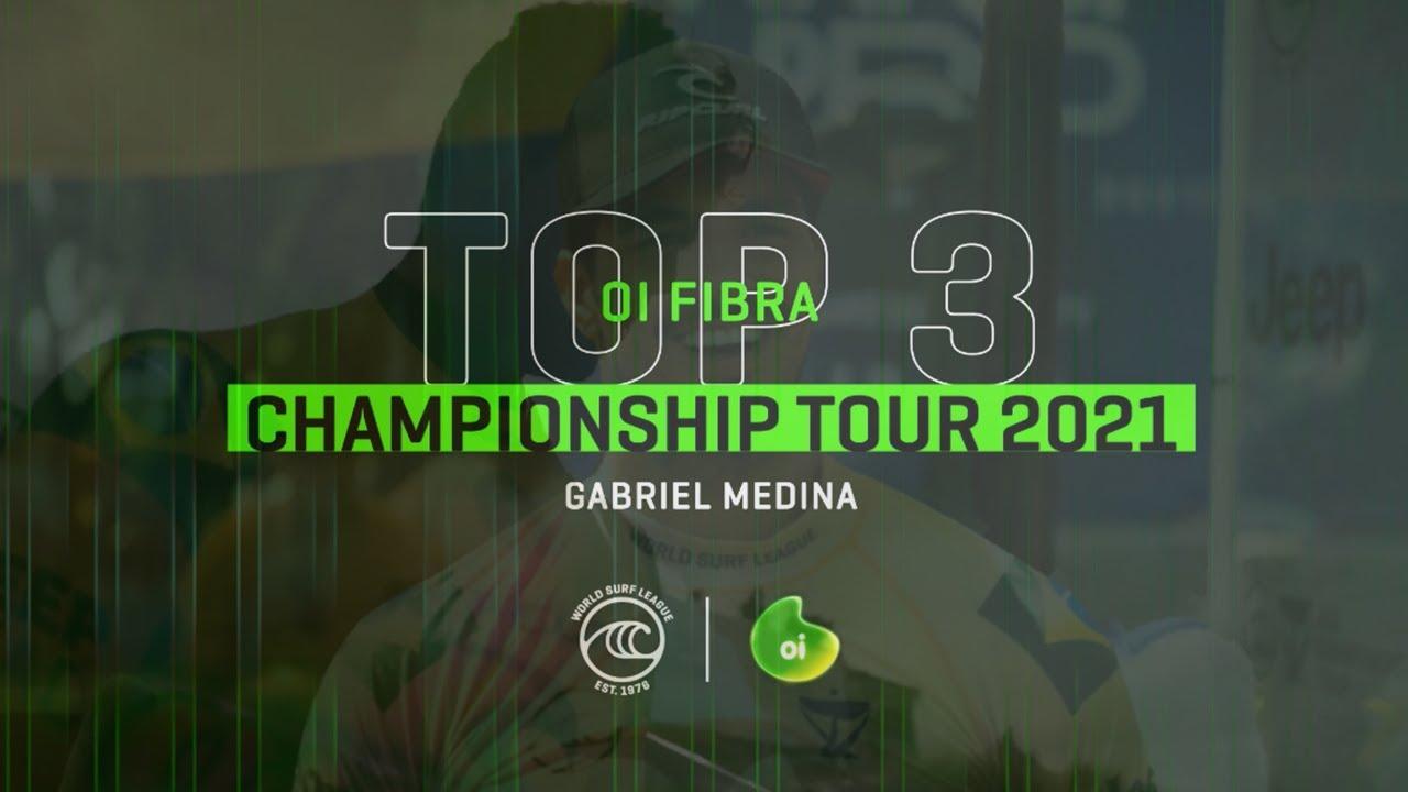 Top 3 notas do GABRIEL MEDINA, atual líder do ranking mundial e #AtletaDeFibra