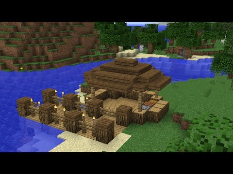 Minecraft: How To Build A small Fishing Hut