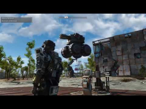 Fallout 4 Mods PC - Metal Slug SDTank RidableBot Combat Gameplay