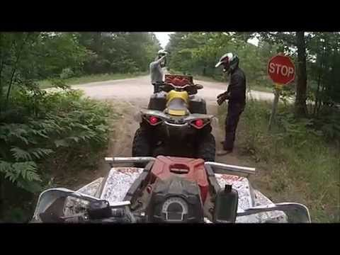 Leota to St. Helen ATV trails and routes.