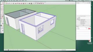 Cutting holes in cavity walls in SketchUp