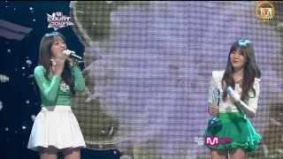 【HD】130328 Davichi - 兩個人喝一杯 둘이서 한잔해 一 位 舞 台 1위 무대 ^^ SK