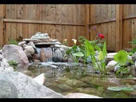 Small garden pond ideas youtube for Small garden with pond design