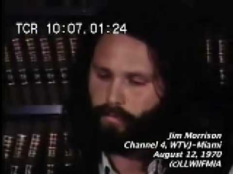 Jim Morrison Interview in Miami August 12, 1970