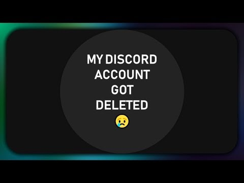 My Discord account got deleted! :( - YouTube