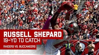 Bucs Forced Fumble Sets Up Russell Shepard's Leaping TD Grab! | Raiders vs. Buccaneers | NFL