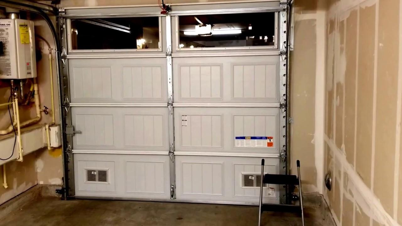 Good Place To Install Door Sensor On A Garage Door Youtube