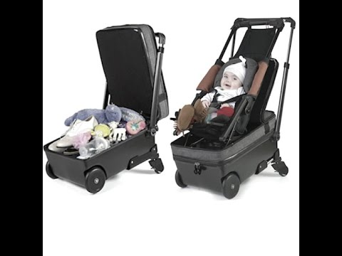 This Carry-On Suitcase Is a Stroller in Disguise - YouTube