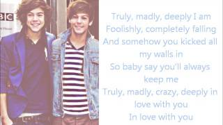 One Direction- Truly, Madly, Deeply(lyrics + pictures)