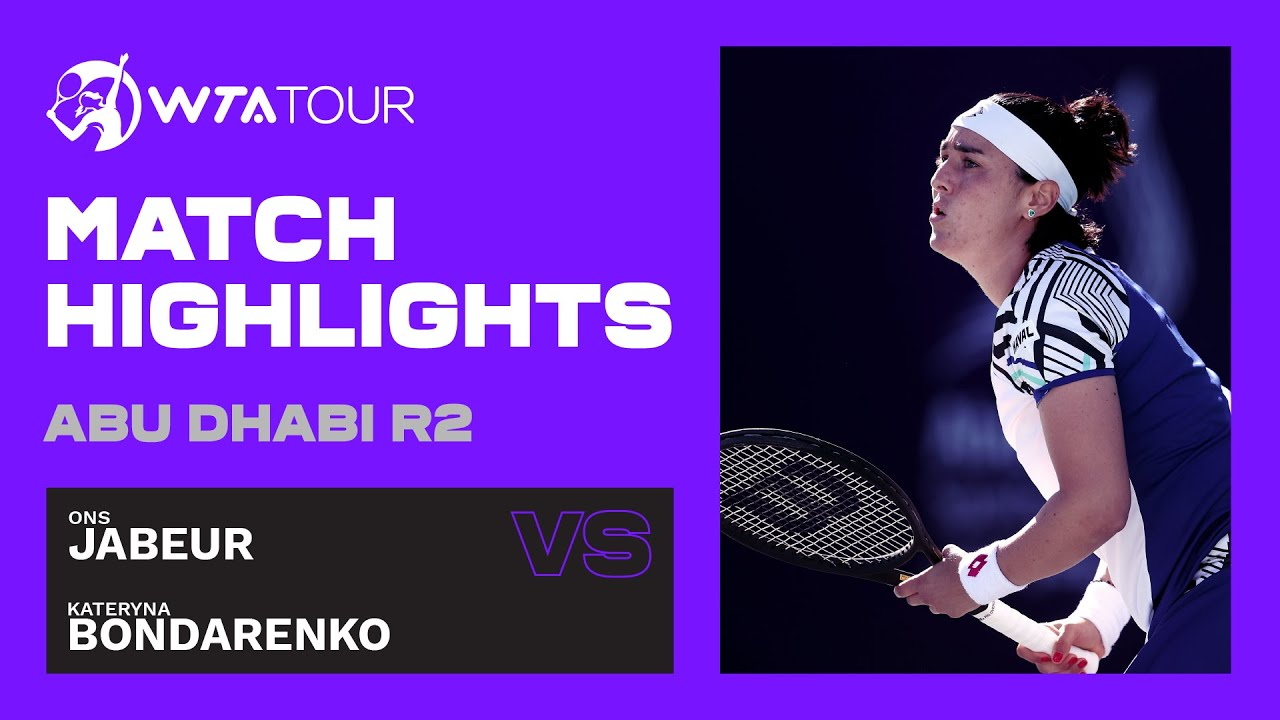 Ons Jabeur vs. Kateryna Bondarenko | 2021 Abu Dhabi Second Round | WTA Highlights