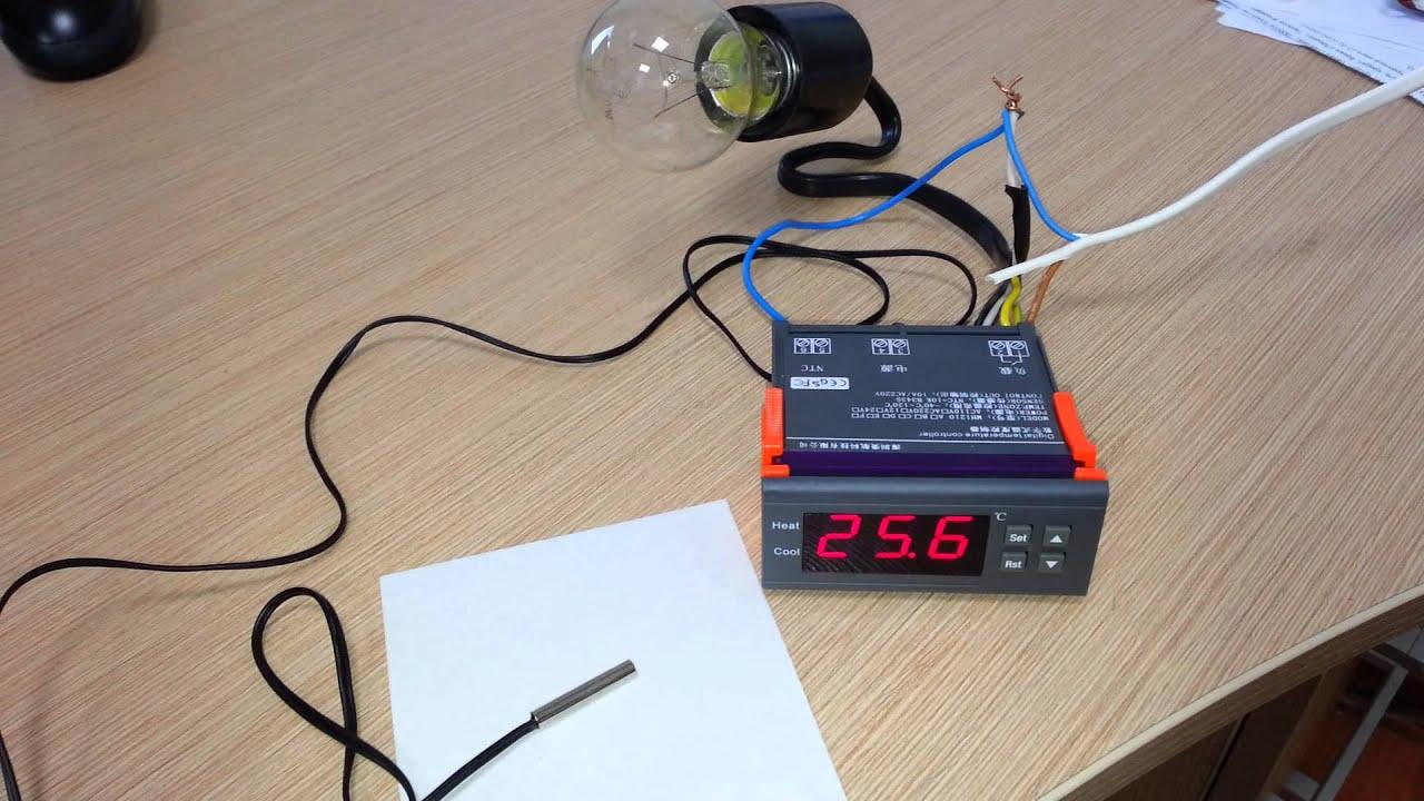 digital temperature controller wiring diagram videx door entry phone mh 1210 a youtube