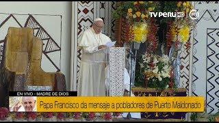 Madre de Dios: Papa Francisco exhorta a generar una cultura del encuentro