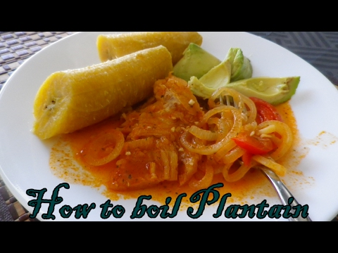 How to boil Plantain (Haitian Style) - YouTube