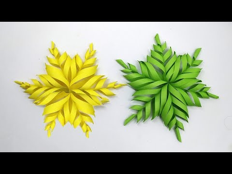 Merry Christmas 2019 | DIY 3D Quilling Paper Snowflakes | Christmas Decoration Ideas 2019
