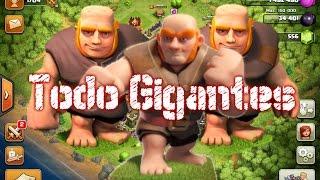 Ataque Con Todo Gigantes Nivel 7 (54 Gigantes) | Clash of Clans