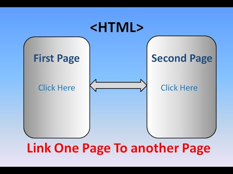 How To Link One Page To Another Page In | HTML