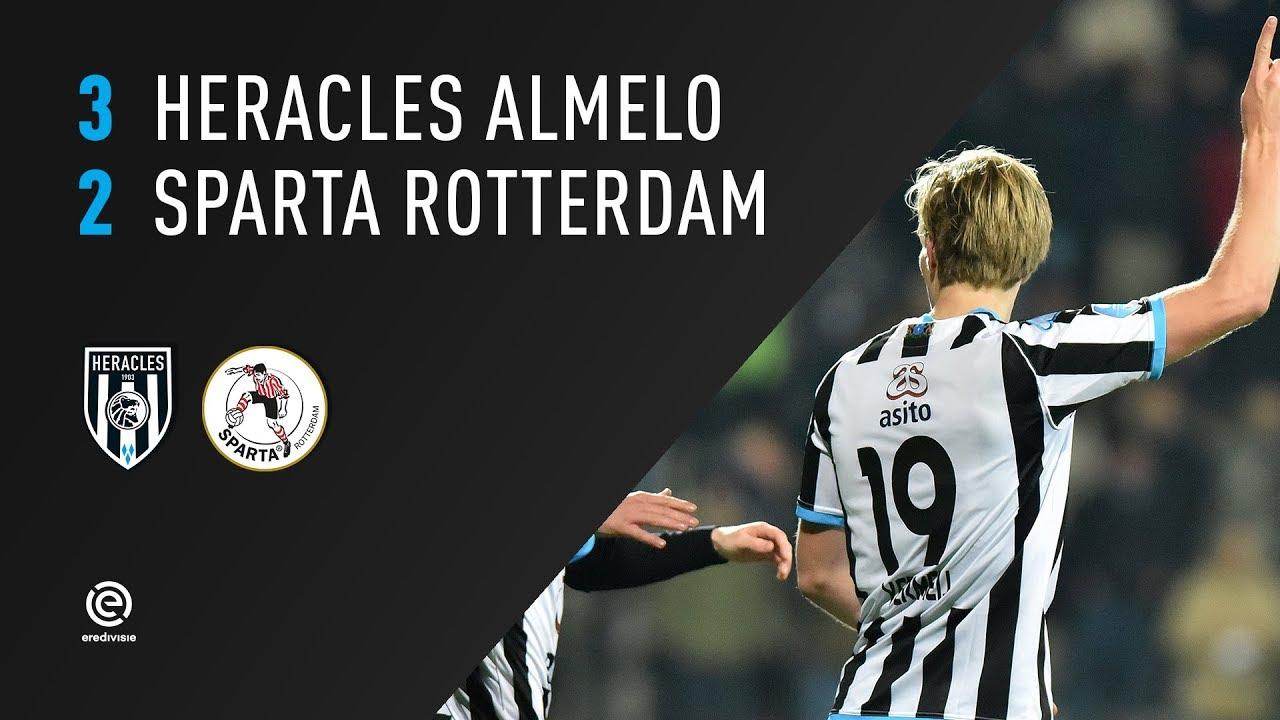Heracles Almelo - Sparta Rotterdam 3-2 | 14-12-2017 | Samenvatting