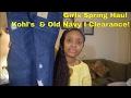 Girls Spring Clothing Haul I Kohl's & Old Navy I Clearance!