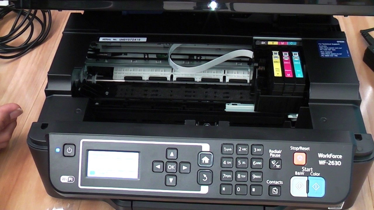 Epson WF-2630 Inserting Ink Cartridges - YouTube