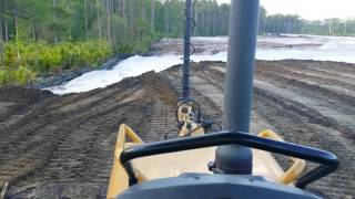 CAT D5K dozer, Dont fuck up or I have to do your job...Making a fill..