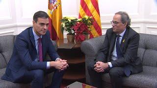 Pedro Sánchez se reúne con Quim Torra