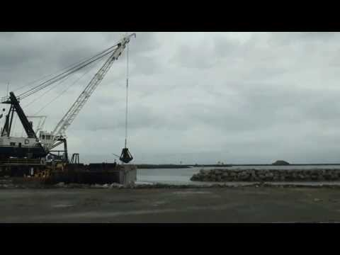 Crescent City Harbor work, June 24, 2013 (HD)