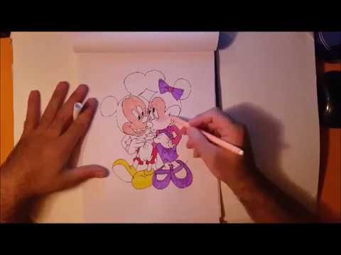 Come Disegnare Minnie E Topolino Da Colorare Per Bambini