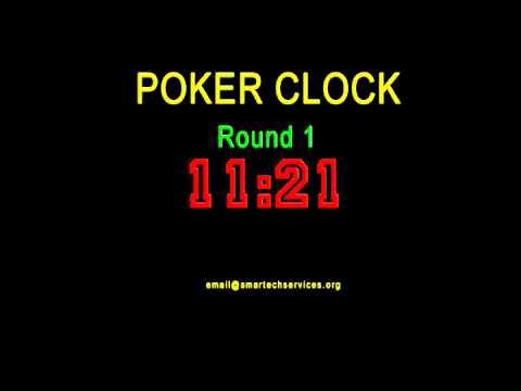 POKER COUNTDOWN TIMER CLOCK - ROUND 1
