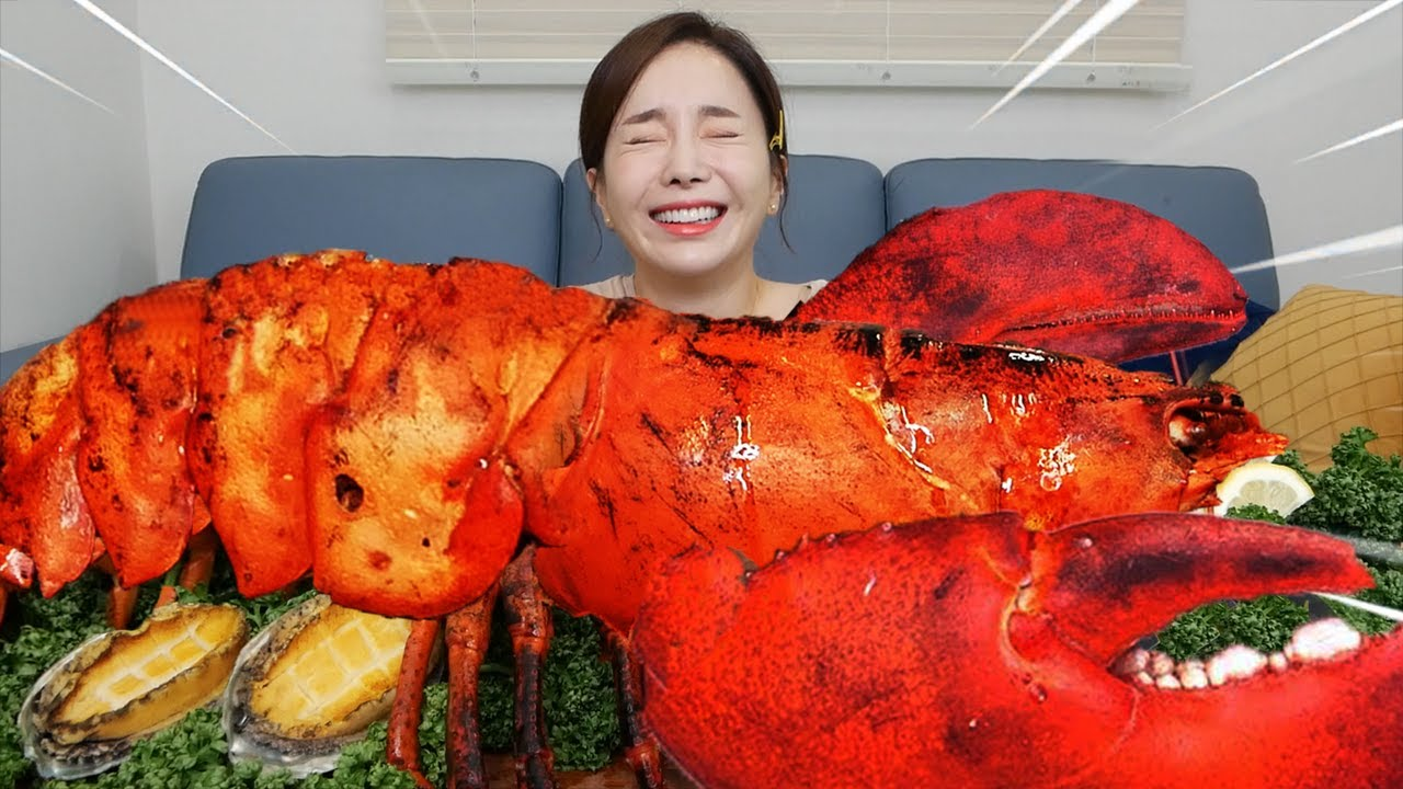 [Mukbang ASMR] 대박 대왕 랍스터 5.4KG🦞 Giant SuperSize LOBSTER & Abalone Recipe Seafood Eatingshow Ssoyoung