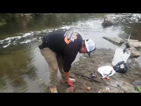 Últimas pescas del año, LA River fishing en Balboa Park