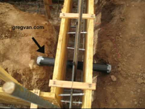 Concrete Footing And Plumbing Pipe Sleeve - Building Foundations