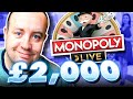 £2000 on MONOPOLY LIVE (Can I WIN?)