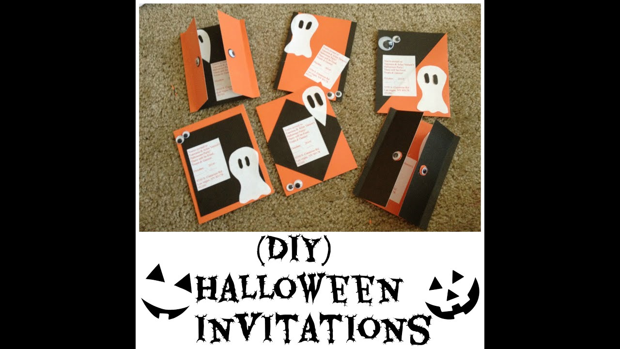 diy halloween invitations youtube