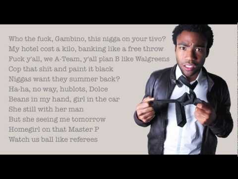 "Childish Gambino - ""Unnecessary (feat. Schoolboy Q and Ab-Soul)"" With Lyrics HD"