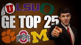 2019 Week 14 College Football Top 25 Rankings