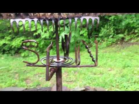 Garden Centipede Prehistoric Metal Weather Vane - Art Sculpture - Precambrian Creature - $225.00