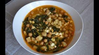 видео Суп с нагутом и шпинатом
