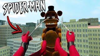 Spider-Man vs GIGANTIC FNAF ARMY... (Five Nights at Freddy's vs Spider-Man)