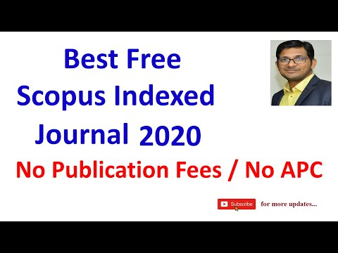 Unpaid Scopus Indexed Journals | Free Scopus Journals | No Publication fees | All domain journals