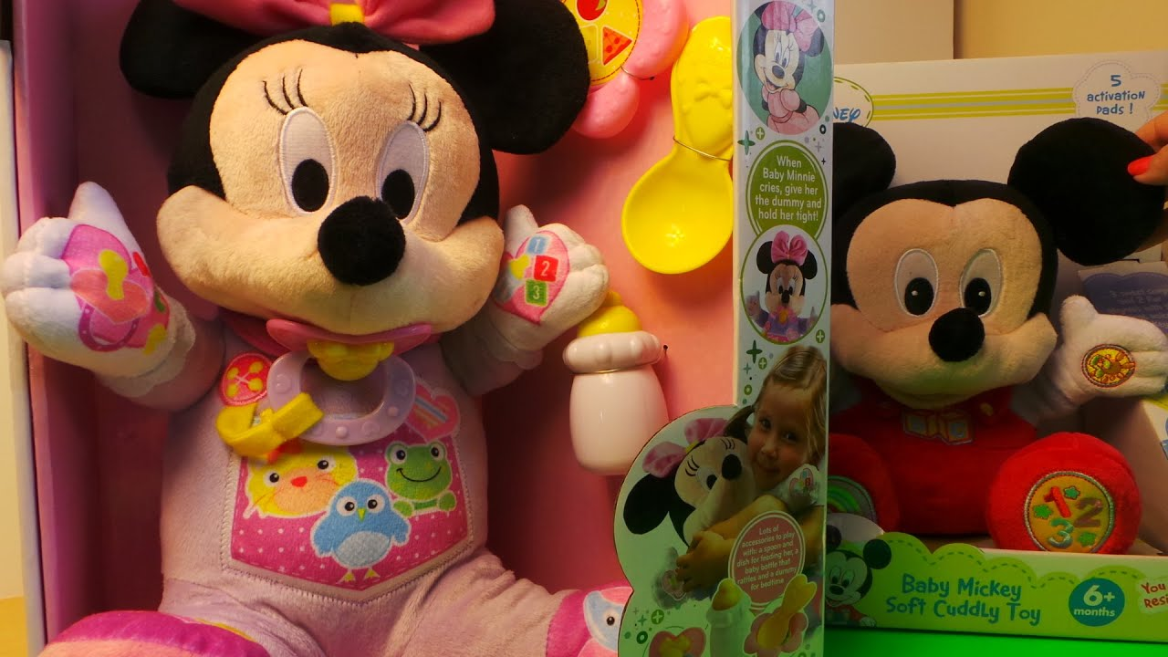 Disney S Baby Minnie Mouse Soft Educational Toy By