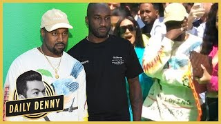 kanye west breaks down in tears supporting friend virgil abloh at louis vuitton show daily denny