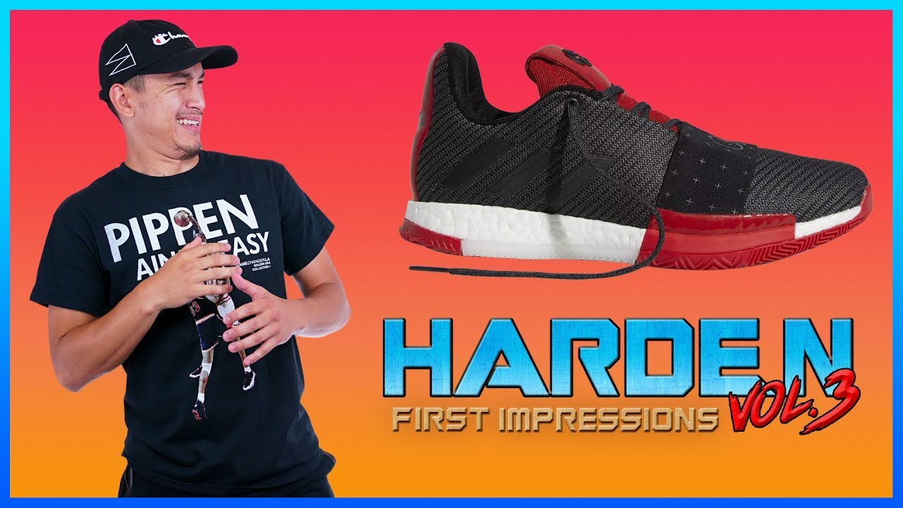 a5474305adf1 ADIDAS HARDEN VOL. 3 Review   First Impressions - YouTube