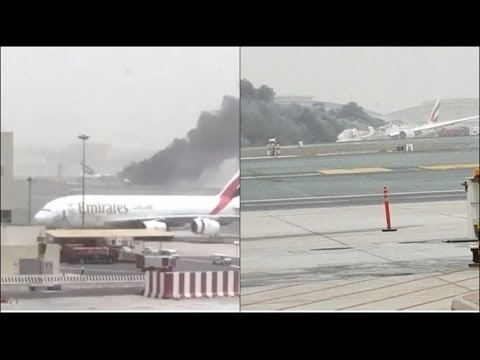Emirates plane from thiruvananthapuram on fire caught on - Emirates camera ...